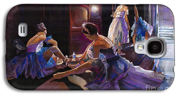 Light Pastels Galaxy S4 Cases - Ballet Behind the Scenes Galaxy S4 Case by Yuriy  Shevchuk