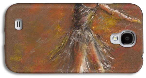 Ballet Dancers Pastels Galaxy S4 Cases - Ballet Dancer Galaxy S4 Case by Bonnie Goedecke