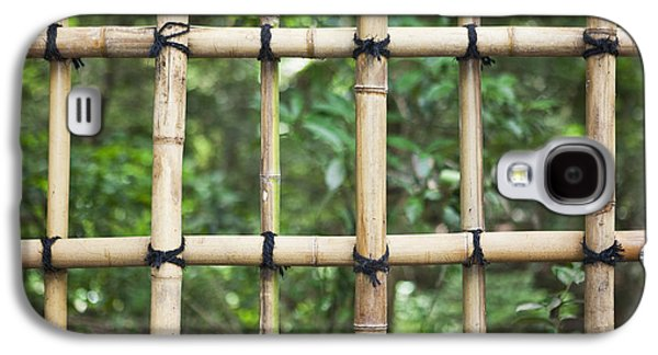 Bamboo Fence Galaxy S4 Cases - Bamboo Fence Detail Meiji Jingu Shrine Galaxy S4 Case by Bryan Mullennix