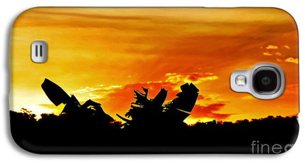 Colorful Cloud Formations Galaxy S4 Cases - Banana Palm Sunset Galaxy S4 Case by Kaye Menner