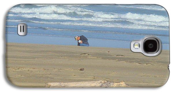 Agate Beach Oregon Galaxy S4 Cases - Bandon Oregon Beach Comber prints Ocean Coastal Galaxy S4 Case by Baslee Troutman