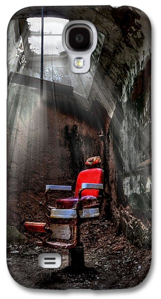 Metal Photographs Galaxy S4 Cases - Barber Shop Galaxy S4 Case by Evelina Kremsdorf