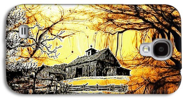 Barn Out Back Galaxy S4 Case by Cheryl Young