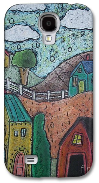 Colorful Abstract Pastels Galaxy S4 Cases - Barn Scene Galaxy S4 Case by Karla Gerard