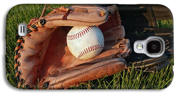 Sports Photographs Galaxy S4 Cases - Baseball Gloves After the Game Galaxy S4 Case by Anna Lisa Yoder