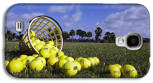 Basket Ball Game Galaxy S4 Cases - Basket of Golf Balls Galaxy S4 Case by Skip Nall