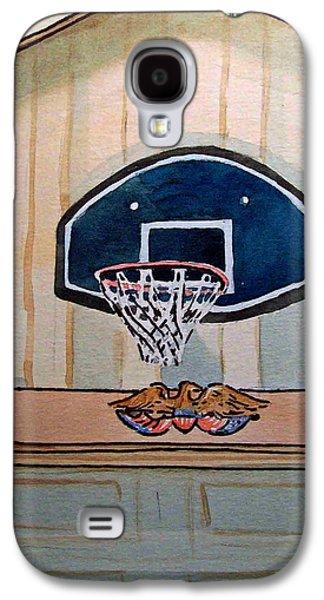 Basketballs Galaxy S4 Cases - Basketball Hoop Sketchbook Project Down My Street Galaxy S4 Case by Irina Sztukowski