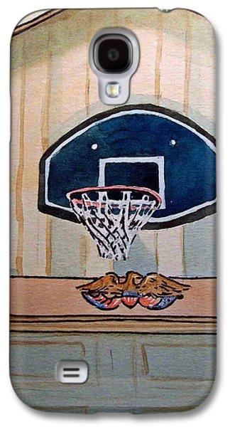 Basketball Hoop Sketchbook Project Down My Street Galaxy S4 Case by Irina Sztukowski