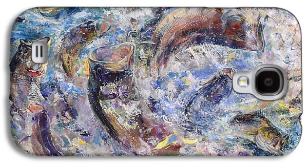 Colorful Abstract Galaxy S4 Cases - Bass Collage  Galaxy S4 Case by Russ Smiley