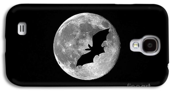 Creepy Digital Galaxy S4 Cases - Bat Moon Galaxy S4 Case by Al Powell Photography USA