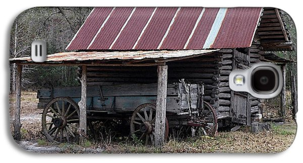 Wooden Wagons Galaxy S4 Cases - Battered Barn - Digital Art Galaxy S4 Case by Al Powell Photography USA