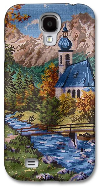 Architecture Tapestries - Textiles Galaxy S4 Cases - Bavarian Country Galaxy S4 Case by M and L Creations Art Craft Boutique