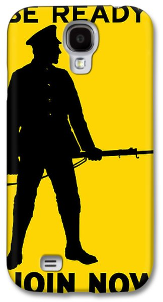Patriotic Mixed Media Galaxy S4 Cases - Be Ready Join Now Galaxy S4 Case by War Is Hell Store