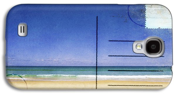Torn Galaxy S4 Cases - Beach And Blue Sky On Postcard  Galaxy S4 Case by Setsiri Silapasuwanchai