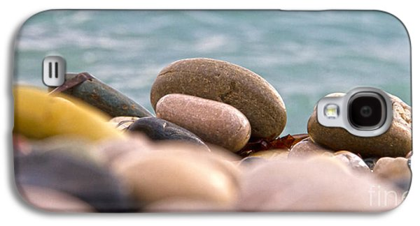 Abstract Beach Landscape Galaxy S4 Cases - Beach And Stones Galaxy S4 Case by Stylianos Kleanthous