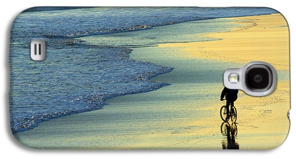 Person Galaxy S4 Cases - Beach Biker Galaxy S4 Case by Carlos Caetano