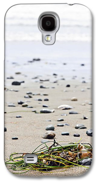 Reserve Galaxy S4 Cases - Beach detail on Pacific ocean coast of Canada Galaxy S4 Case by Elena Elisseeva