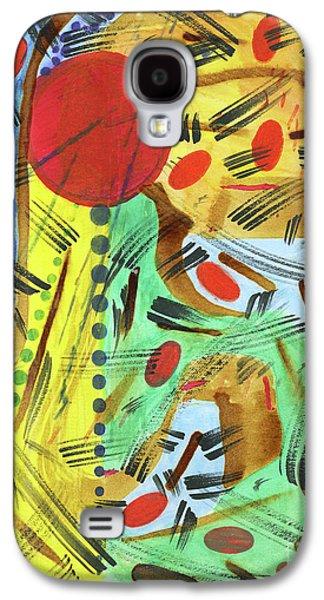 Modern Abstract Tapestries - Textiles Galaxy S4 Cases - Beach n Bonfire Galaxy S4 Case by TB Schenck
