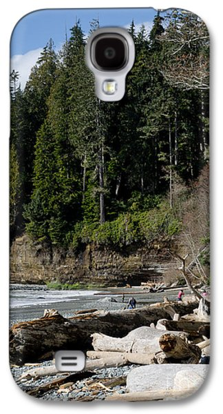 China Beach Galaxy S4 Cases - BEACHED LOGS china beach vancouver island BC Galaxy S4 Case by Andy Smy