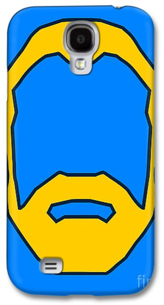 Face Digital Galaxy S4 Cases - Beard Graphic  Galaxy S4 Case by Pixel Chimp