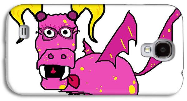 Puppy Digital Art Galaxy S4 Cases - Beatrice Galaxy S4 Case by Jera Sky