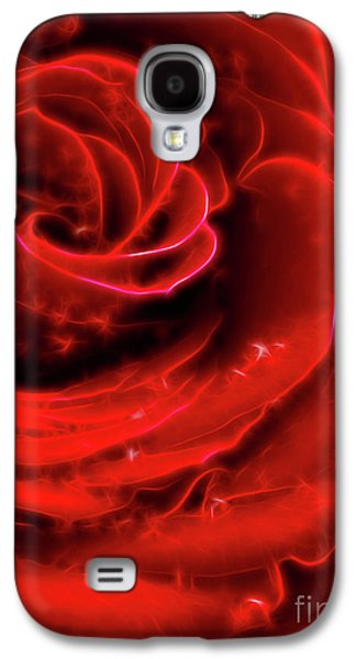 Abstract Digital Photographs Galaxy S4 Cases - Beautiful Abstract Red Rose Galaxy S4 Case by Oleksiy Maksymenko