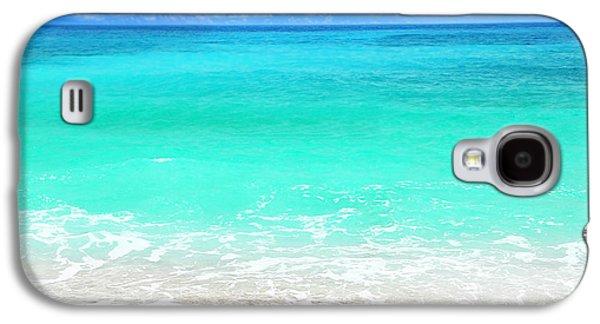 Beach Landscape Galaxy S4 Cases - Beautiful blue sea beach Galaxy S4 Case by Anna Omelchenko