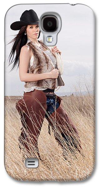 Beautiful Cowgirl Galaxy S4 Case by Cindy Singleton