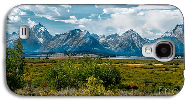 Haybale Galaxy S4 Cases - Beautiful Tetons Galaxy S4 Case by Robert Bales