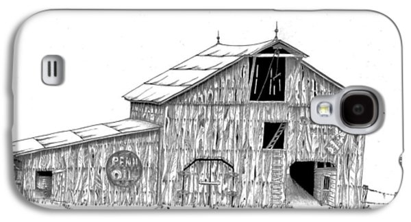Old Barn Drawing Galaxy S4 Cases - Becks Dairy Galaxy S4 Case by Donald Black