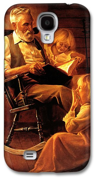 Sisters Paintings Galaxy S4 Cases - Bedtime Stories Galaxy S4 Case by Greg Olsen