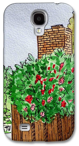 Chimneys Galaxy S4 Cases - Behind The Fence Sketchbook Project Down My Street Galaxy S4 Case by Irina Sztukowski