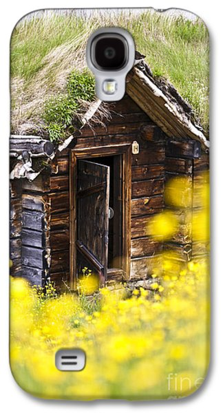 Frame House Galaxy S4 Cases - Behind Yellow Flowers Galaxy S4 Case by Heiko Koehrer-Wagner