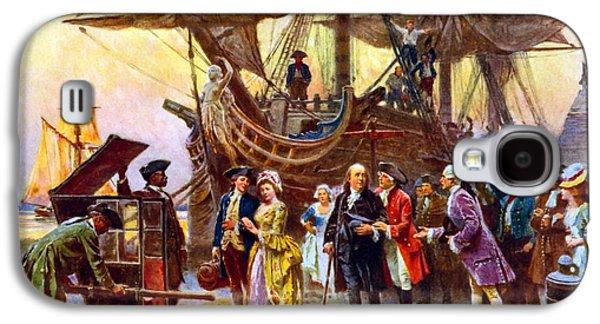 Benjamin Franklin Galaxy S4 Cases - Ben Franklin returns to Philadelphia Galaxy S4 Case by War Is Hell Store