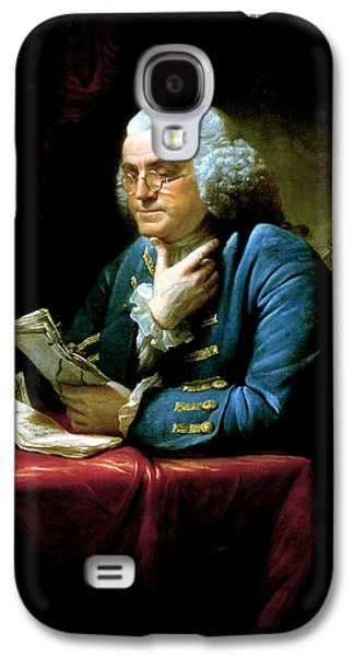 America Paintings Galaxy S4 Cases - Ben Franklin Galaxy S4 Case by War Is Hell Store