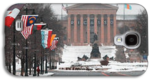 Phillies Art Galaxy S4 Cases - Benjamin Franklin Parkway Panorama Galaxy S4 Case by Bill Cannon