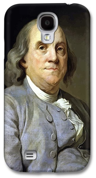 America Paintings Galaxy S4 Cases - Benjamin Franklin Galaxy S4 Case by War Is Hell Store