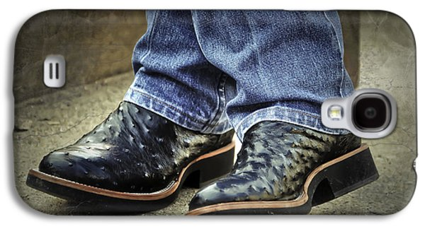 Cowboy Life Photographs Galaxy S4 Cases - Bennys Boots Galaxy S4 Case by Joan Carroll