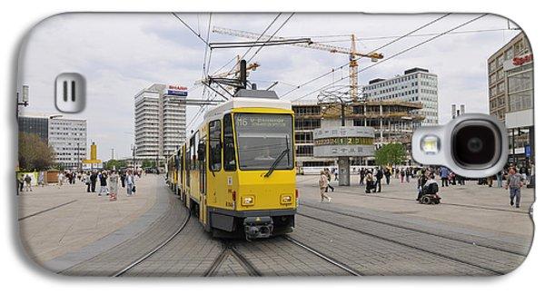 Bahn Galaxy S4 Cases - Berlin Alexanderplatz square Galaxy S4 Case by Matthias Hauser