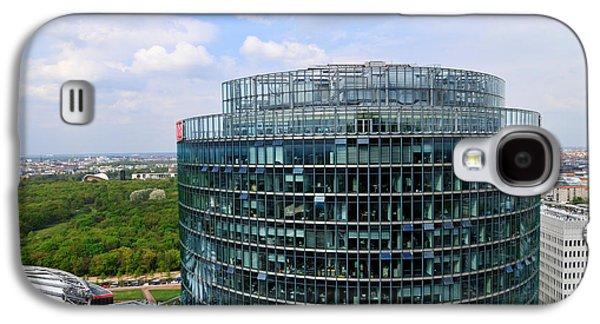 Bahn Galaxy S4 Cases - Berlin Bahn Tower Potsdamer Platz Square Galaxy S4 Case by Matthias Hauser