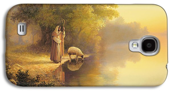 Christian Galaxy S4 Cases - Beside Still Waters Galaxy S4 Case by Greg Olsen