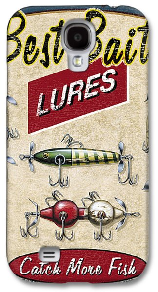 Retro Antique Galaxy S4 Cases - Best Bait Lures Galaxy S4 Case by JQ Licensing