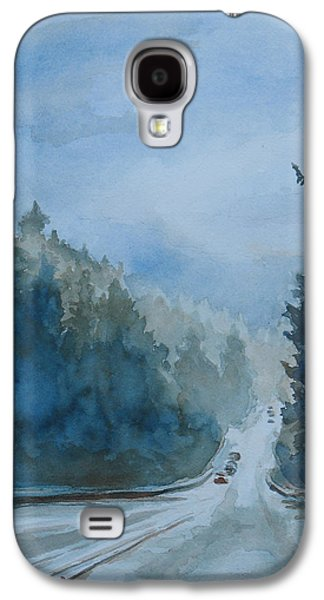 Mist Paintings Galaxy S4 Cases - Between the Showers on HWY 101 Galaxy S4 Case by Jenny Armitage