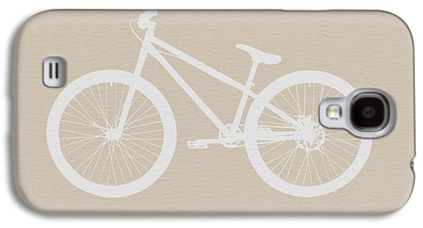 Fun Digital Galaxy S4 Cases - Bicycle Brown Poster Galaxy S4 Case by Naxart Studio