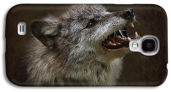 Growling Galaxy S4 Cases - Big Bad Wolf Galaxy S4 Case by Louise Heusinkveld