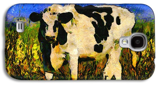 Cow Digital Galaxy S4 Cases - Big Bull 2 . 7D12437 Galaxy S4 Case by Wingsdomain Art and Photography