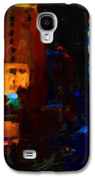 Long Street Digital Art Galaxy S4 Cases - Big City Abstract Galaxy S4 Case by Wingsdomain Art and Photography