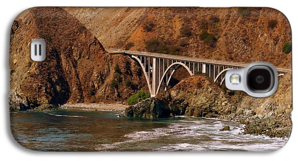 Bridge On Highway One Galaxy S4 Cases - Big Creek Bridge Close Galaxy S4 Case by Jeff Lowe
