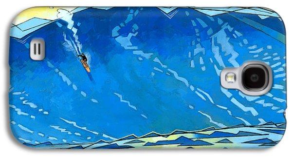 Beaches Galaxy S4 Cases - Big Wave Galaxy S4 Case by Douglas Simonson