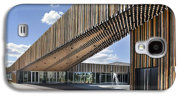 Abstract Fountain Galaxy S4 Cases - Bike Racks at a Modern Office Building Galaxy S4 Case by Jaak Nilson